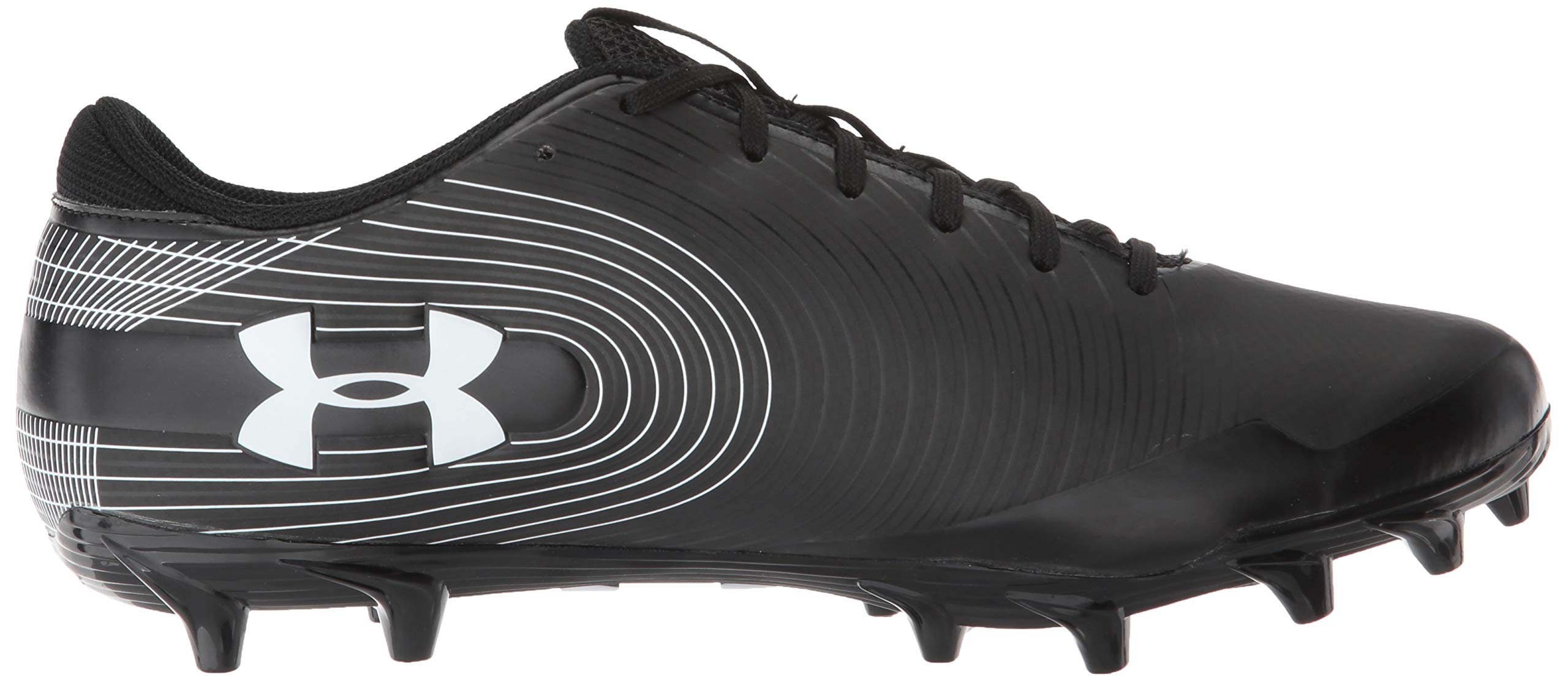 Under Armour Men's Speed Phantom MC Football Shoe Black (001)/White 6.5 by Under Armour (Image #7)
