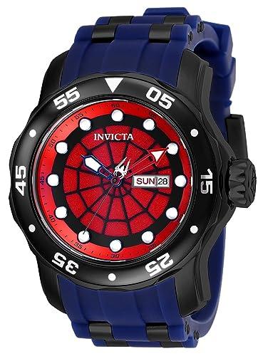 Invicta 25699 Marvel - Spiderman Reloj para Hombre acero inoxidable Cuarzo Esfera rojo: Amazon.es: Relojes