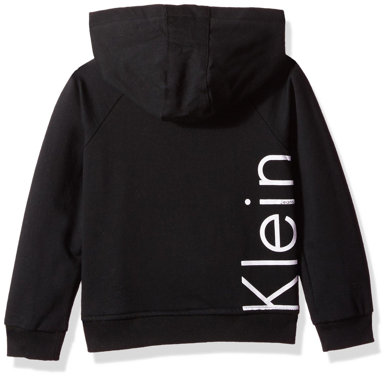 Calvin Klein Big Girls' Logo Zip Front Hoodie, Anthracite, Medium (8/10) by Calvin Klein (Image #2)
