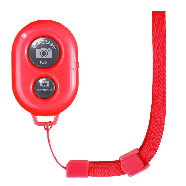Huawei e Cos/ì Via iPad per iPhone /& Dispositivi Mobili Android Samsung Galaxy//Note//Nexus Neewer Telecomando per Cellulari Rilascio di Otturatore con Rosso Cinturino da Polso LG come iPhone