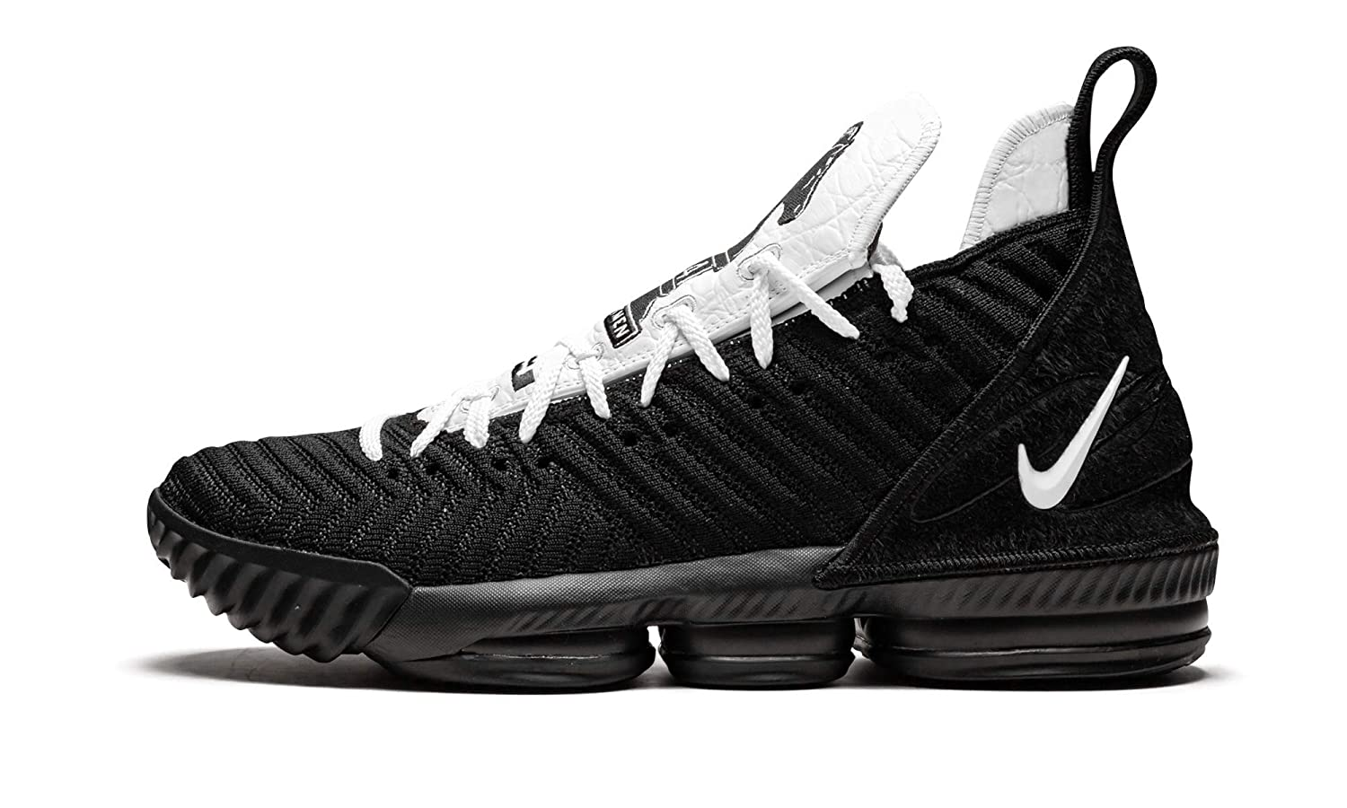 new concept 70af3 5c74e Amazon.com | Nike Lebron 16 (Black/White-Black 10.5 ...