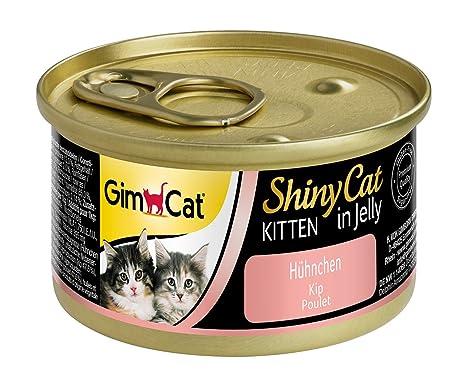 GimCat ShinyCat - Gelatina de pollo, Comida para gatitos a partir de 8 semanas,
