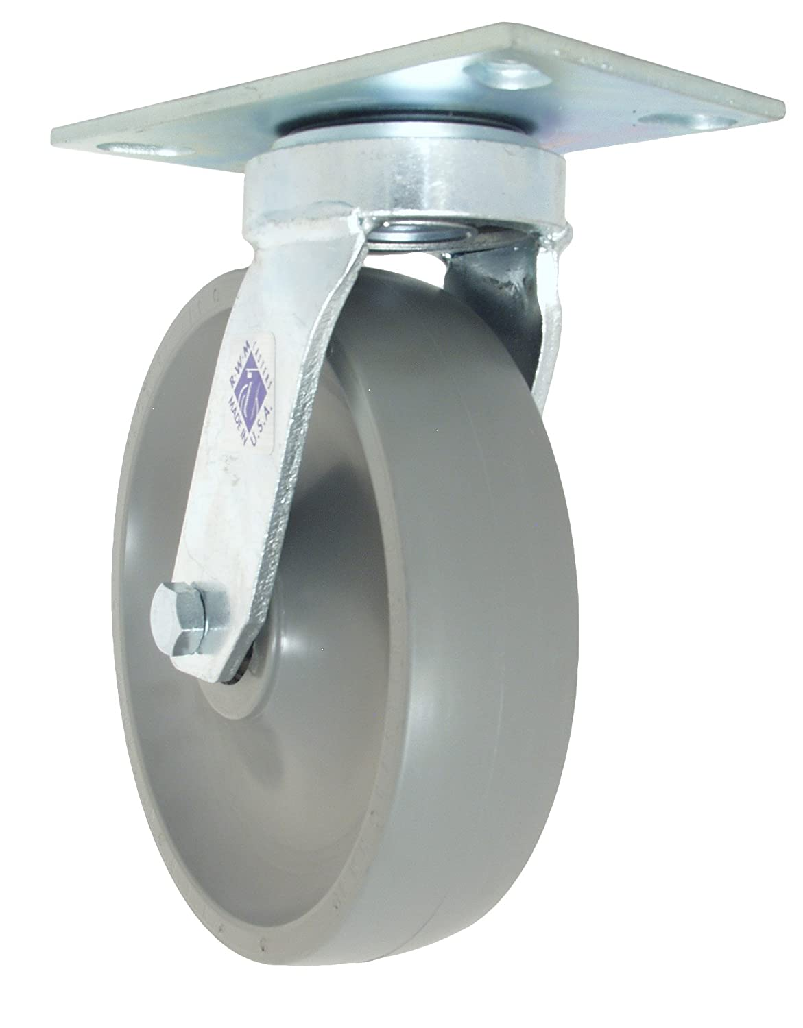 Swivel Caster 8 GT Wheel with 42ST Optional Mounting Plate RWM Casters 48-GTB-0820-S-42ST 48 Freedom Series 9-1//2 High 8 GT Wheel with 42ST Optional Mounting Plate