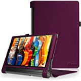FINTIE Lenovo Yoga Tab 3 Plus/Yoga Tab 3 PRO 10.1 Custodia - Premium Folio Case Protettiva in Pelle PU per Lenovo Yoga Tab 3 Plus 10 / Yoga Tab 3 PRO 10.1 Pollici Tablet, Porpora