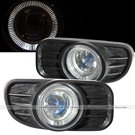 amazon com: 1999-2003 jeep grand cherokee halo fog lamp lights kit:  automotive
