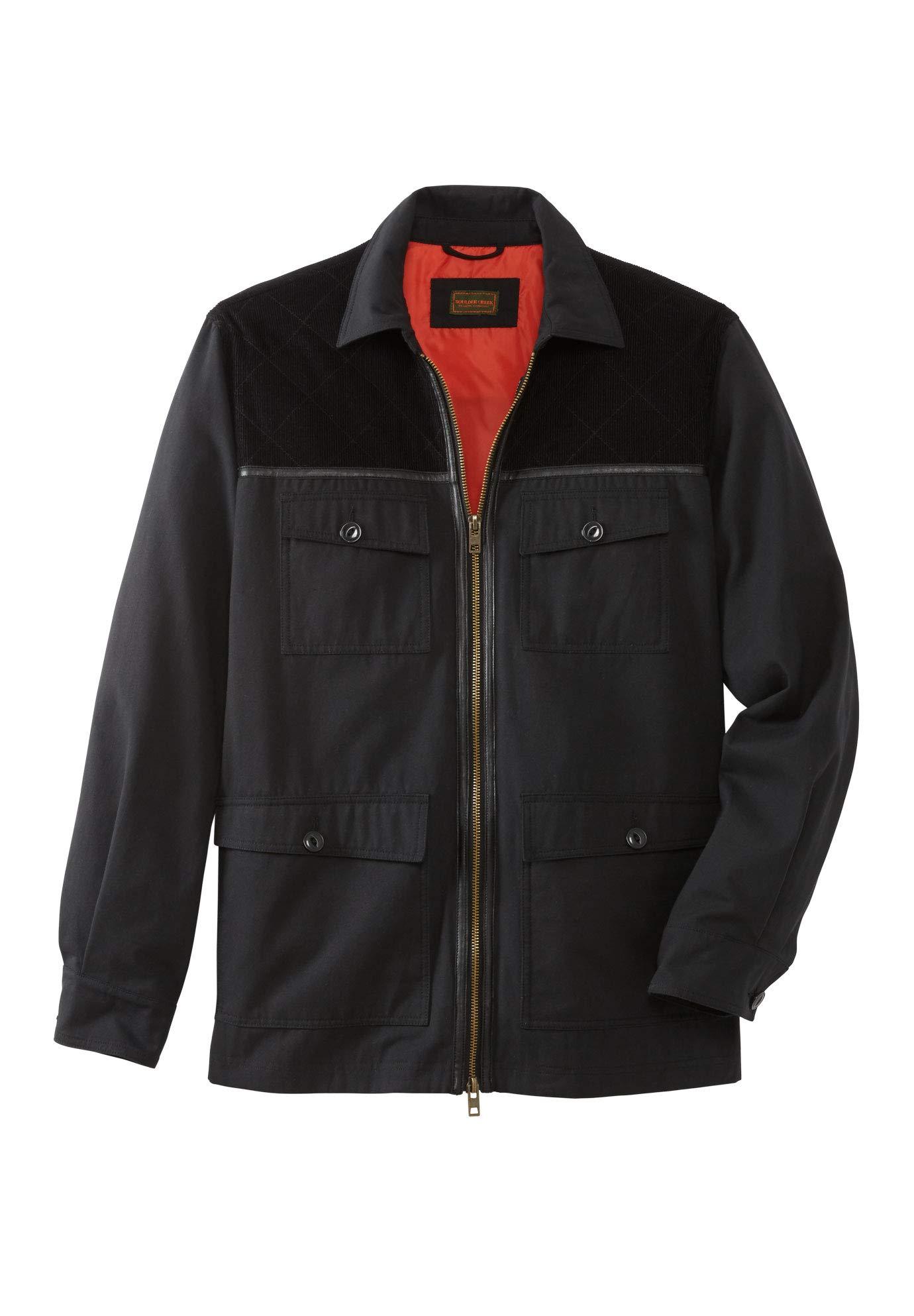 Boulder Creek Men's Big & Tall 3-in-1 Field Jacket, Black Big-8Xl