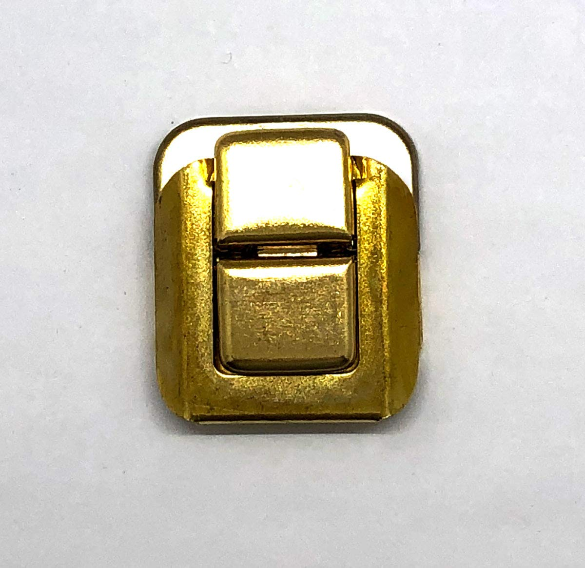 8 Small Box Lid Hidden Hole Latch/Catch Brass Plate W/Screws