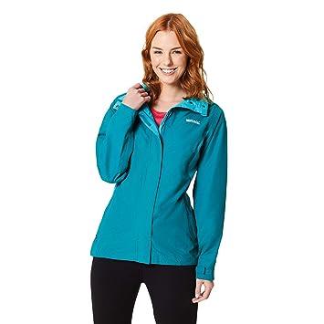 0de852291 Regatta Women's Daysha Waterproof Lined Hooded Shell Jacket, Deep Lake/ Atlantis, ...