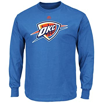 Majestic Oklahoma City Thunder NBA Supreme Logo Men s Long Sleeve – Camiseta,