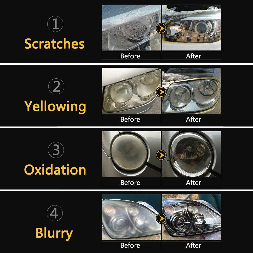 Fms Car Headlight Lens Restoration Kit Headlight Cleaner Polishing