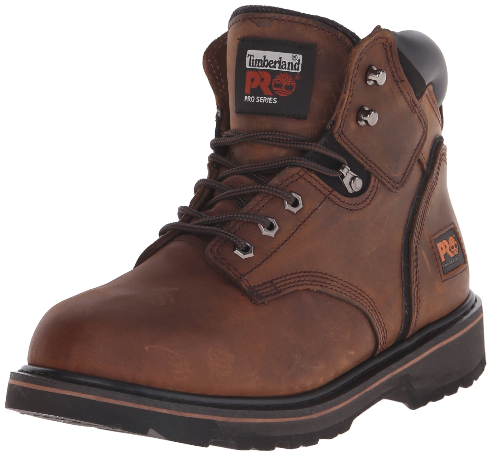 Timberland Men's Pit Boss 6'' Soft Toe Work Shoes, Gaucho Oiled Full Grain,10 M US by Timberland