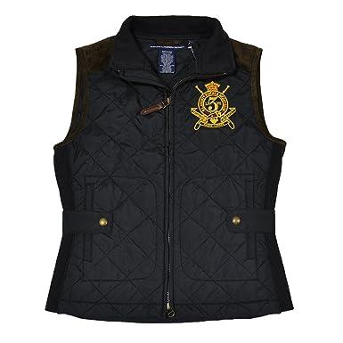 Polo Ralph Lauren Women\u0027s Quilted Crest Vest-Black-XS at Amazon Women\u0027s  Coats Shop