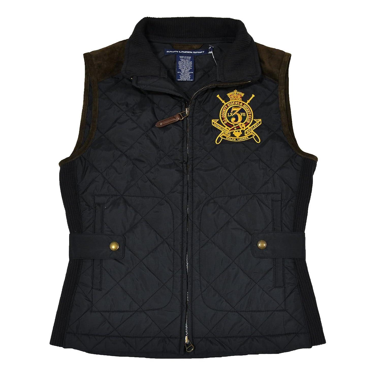 Polo Ralph Lauren Women's Quilted Crest Vest-Black-XS at Amazon ... : quilted ralph lauren jacket - Adamdwight.com