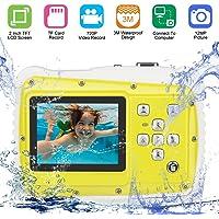 DIDseth Fotocamera Digitale | Mini Fotocamera con sensore CMOS da 5 MP HD da 12 megapixel, videocamera per Bambini HD 720p Funzione Video - Impermeabile Fino a 3 Metri