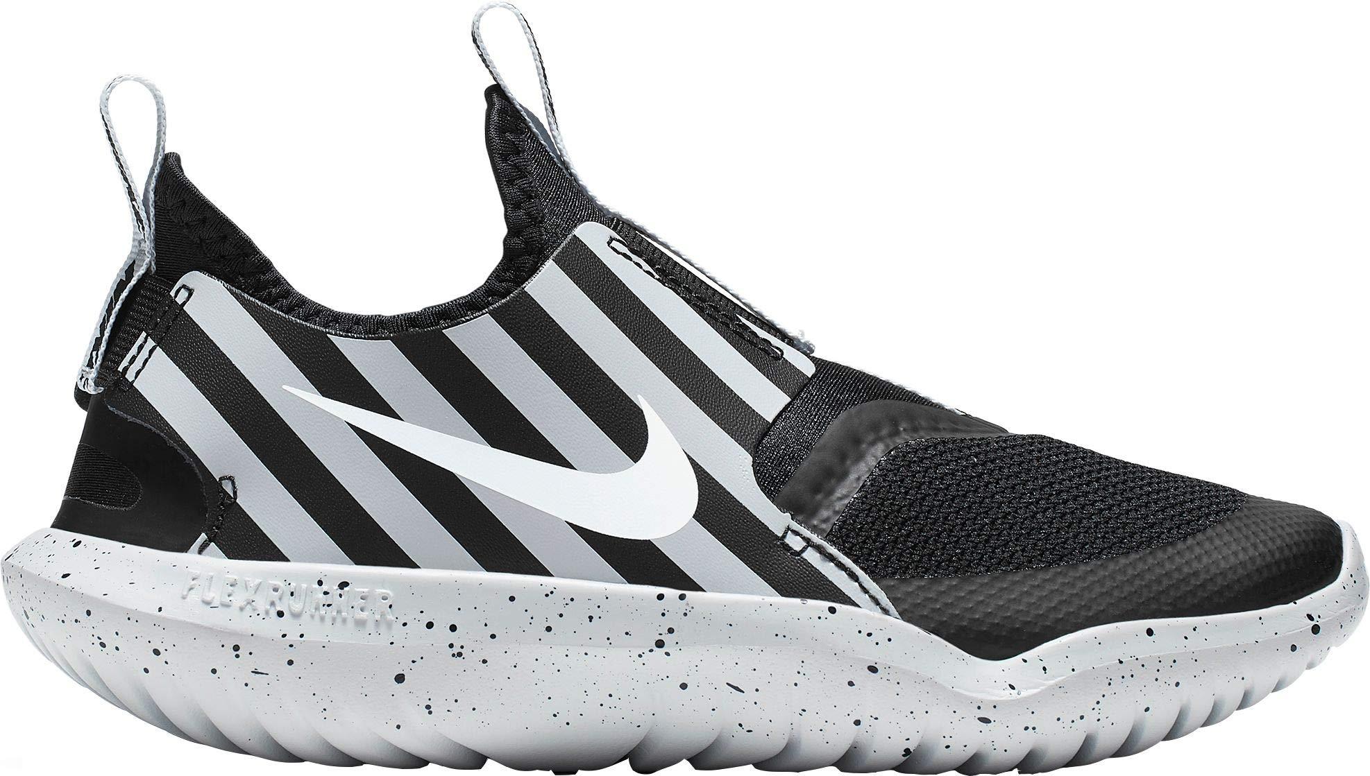 Nike Kids' Preschool Flex Runner Sport Running Shoes (2, Black/Grey) by Nike