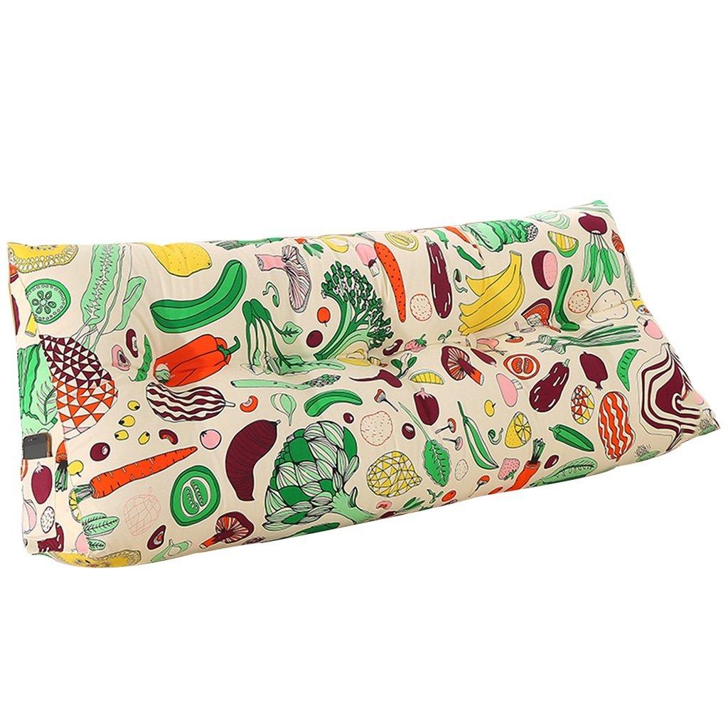 抱き枕 クッションダブルベッドソフトケースグリーントライアングルバックピロー洗える腰のピローブルーPPコットン耐久性と耐久性 (Size : 120 * 50 * 20cm) 120*50*20cm  B07FD5F7RR