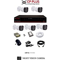 CP Plus 2.4 MP HD CCTV Camera, 8Ch HD DVR, 5 Bullet Camera, 1 TB Hard Disk, 8Ch Power Supply, 90 m Wire Bundle, BNC and DC Connector