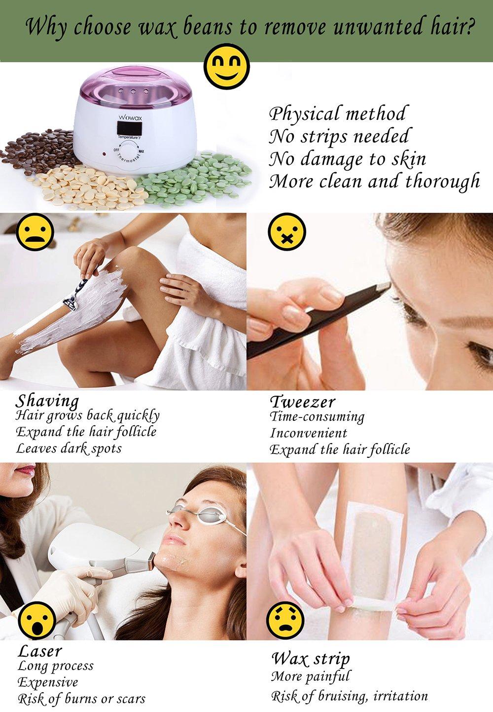 Wowax Wax Warmer Hair Removal Wax Heater With 14oz Wax Melting Pot