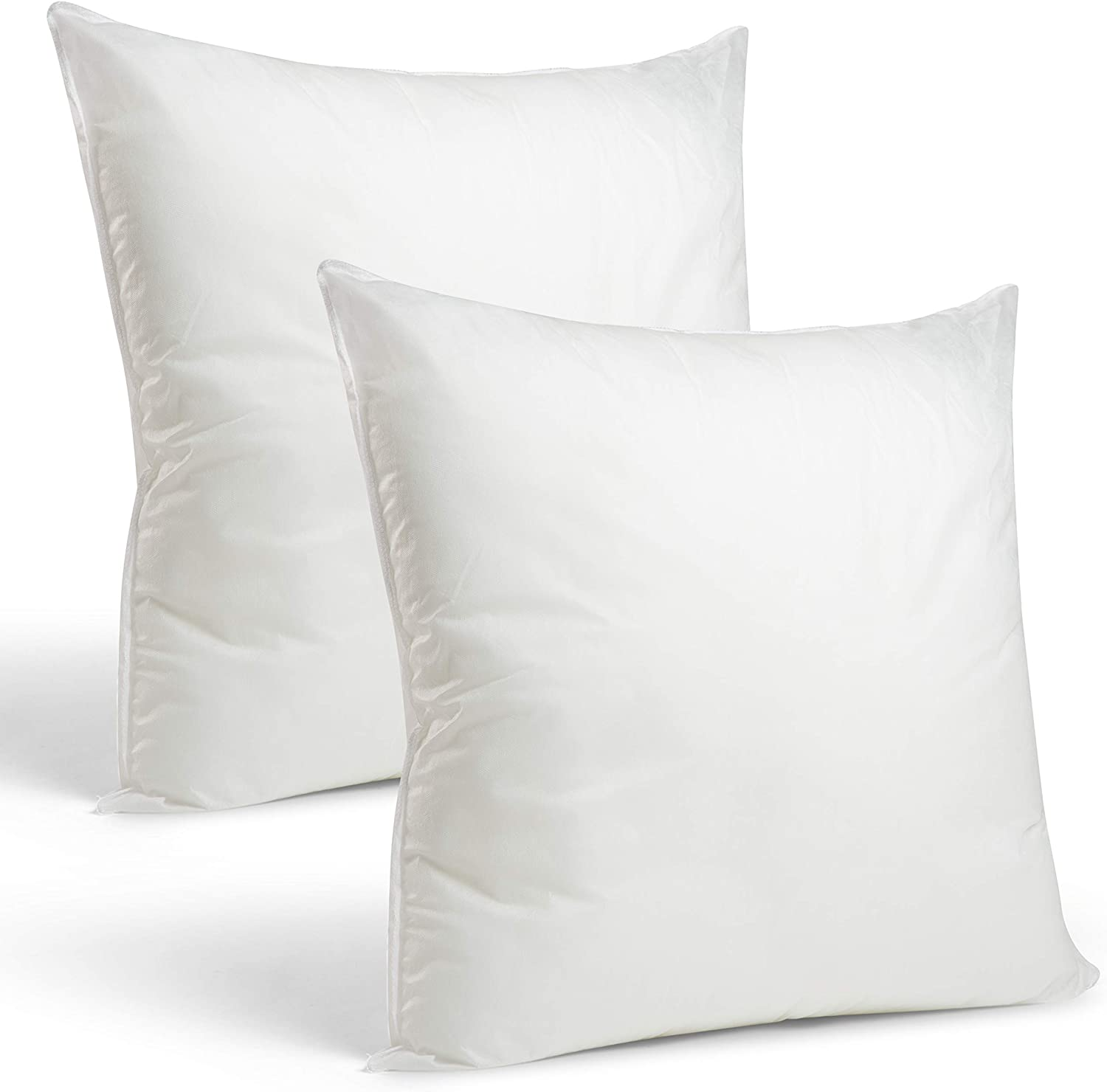 Throw Pillow Insert Square Euro Pillow Stuffing Made in USA Form Insert Set of 4