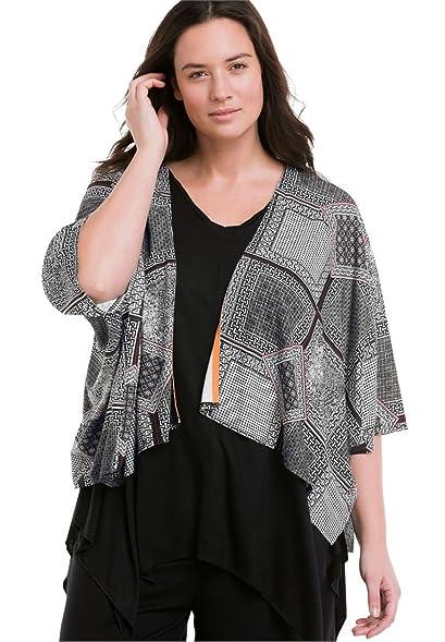 Ellos Women's Plus Size Open Kimono Cardigan at Amazon Women's ...