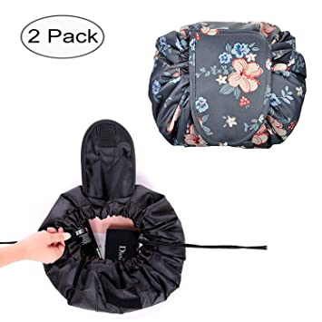 75f0cbfa55ab Waterproof Toiletry Bag Drawstring Lazy Makeup Bag Cosmetic Storage  Organizer Perfect Gift for...