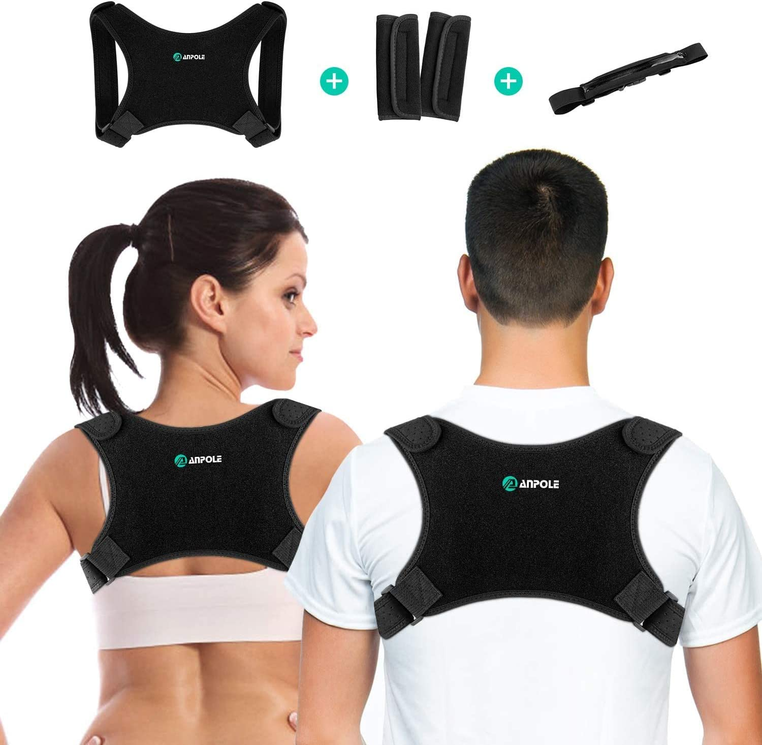 Posture Corrector for Men and Women, Adjustable Upper Back Brace Straightener, Invisible Posture Back Support - Providing Pain Relief from Neck, Back and Shoulder (Universal)
