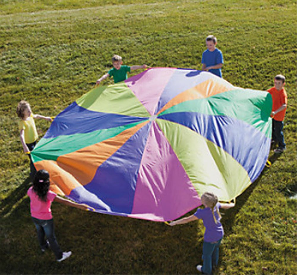 12 Ft. Kids Play Parachute w/Handles Outdoor Game Toy w/Carry Case by FX
