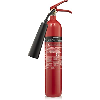 Smartwares FEX-15621 - Extintor de CO2, Capacidad de 2 kg, Clase de Fuego B, Incluye Material de Montaje en Pared, Certificado BSI