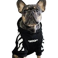 Sudadera para mascotas de punto para perro c/álida y suave gruesa ropa para mascotas para cachorros peque/ños Soundwinds medianos y grandes