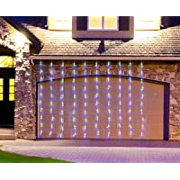 Christmas LED Curtain Fairy Lights Outddor Decoration String Icicle Wall Light Cascading 240pc Flashing Effects + Steady