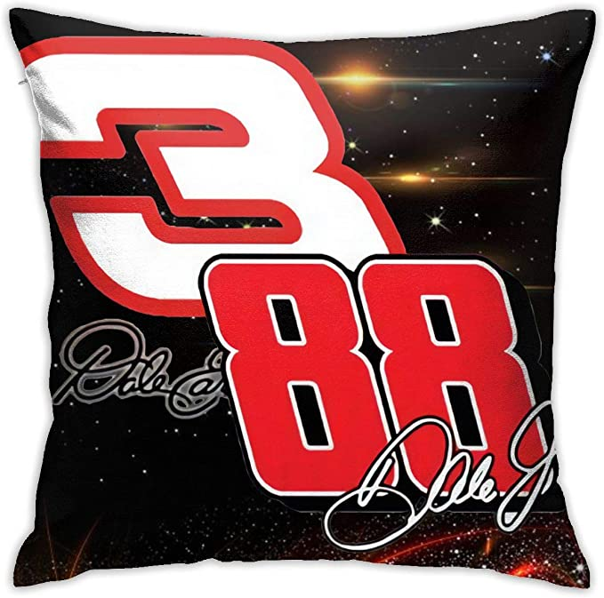 Mr Lidfa Custom Cool Dale Earnhardt Race Car Driver Pillow Covers Thick Heavy Throw Pillow Cases Decorative Cotton Linen Pillowcase Protecter 18x18 Inches Home Kitchen Amazon Com