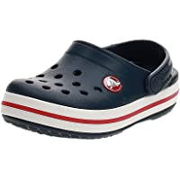 Crocs Crocband Clog K, Zuecos Unisex Niños, 24/25 EU, Azul (Navy/Red)