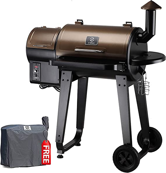 Z GRILLS ZPG-450A 2020 Upgrade Wood Pellet Grill & Smoker 6 in 1 BBQ Grill Auto Temperature Control