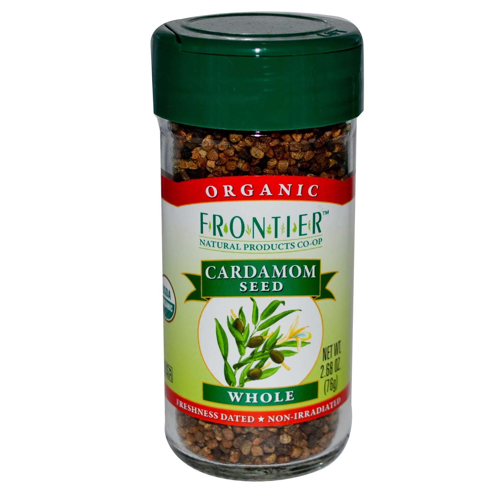 Frontier Natural Products, Organic Cardamom Seed, Whole, 2.68 oz (76 g) - 2PC