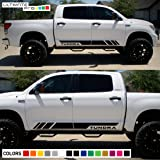 Decal Sticker Viny Graphic Side Stripe Kit Compatible with Toyota Tundra 2007-2017