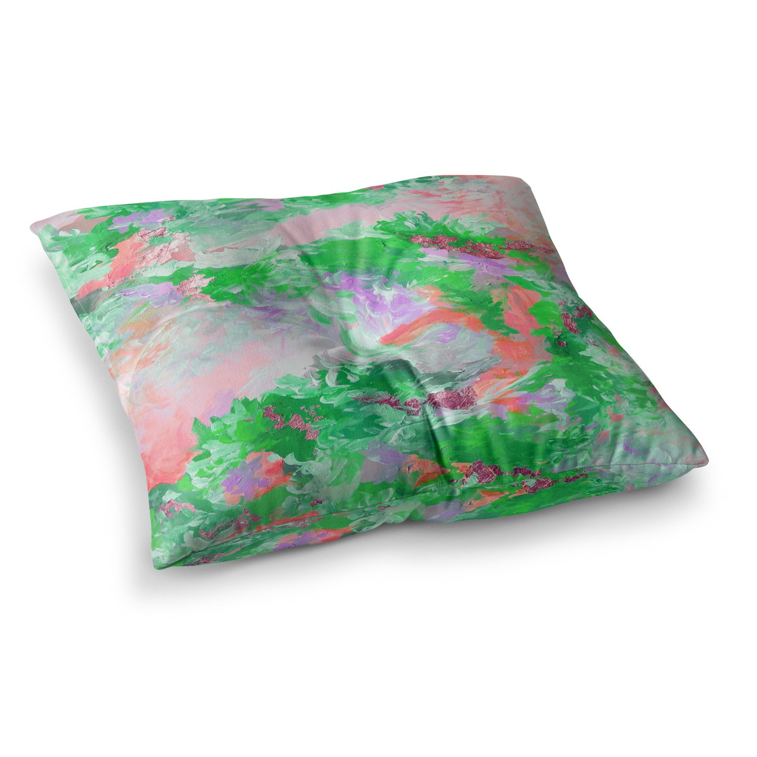 26 by 26 Kess InHouse EBI Emporium When We were Mermids 4 Green Pink Throw Pillow