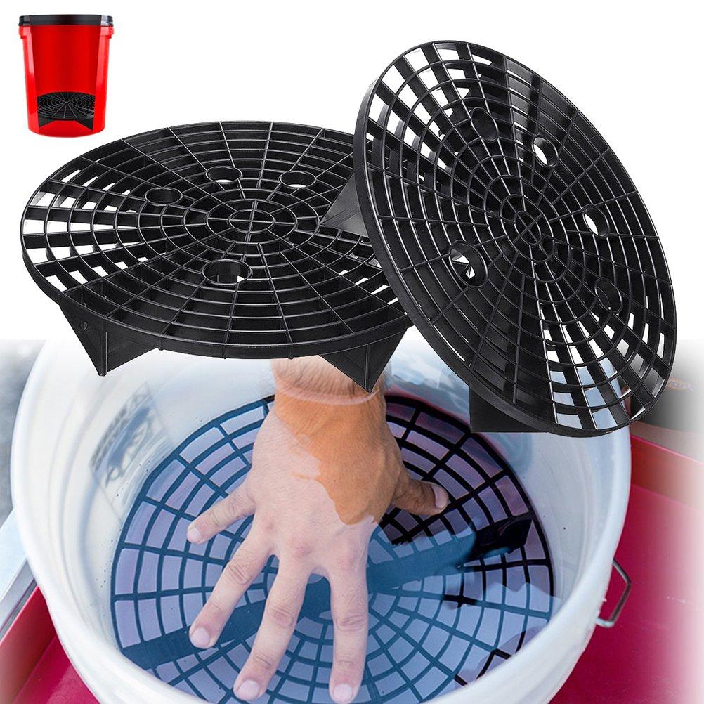 Alftek 23.5//26cm Car Wash Grit Guard Insert Washboard Water Bucket Filter Anti Scratch Tool