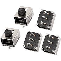 Sourcingmap–® 5PCS 2Posición 6P DPDT interruptor de montaje