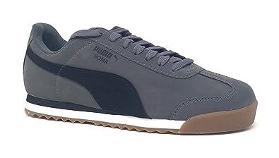 e221be08390 Puma Roma Smooth Nubuck Mens Gray Nubuck Athletic Training Shoes 8