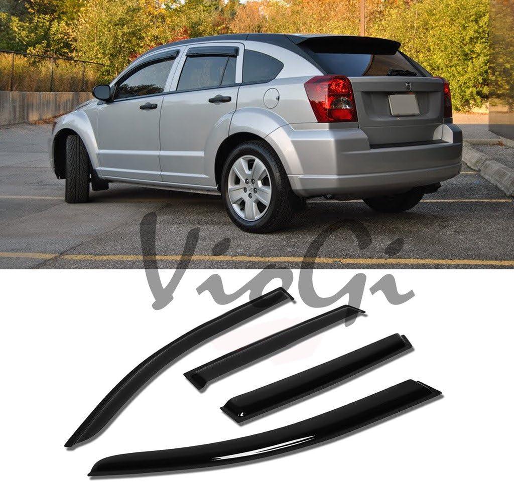 Dodge Caliber 2007-2012 4pcs Out-Channel Rain Guard Wind Deflector Visors