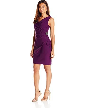 53fe277ec4 Alex Evenings Women's Slimming Short Ruched Dress with Ruffle Skirt (Petite  and Regular Sizes)