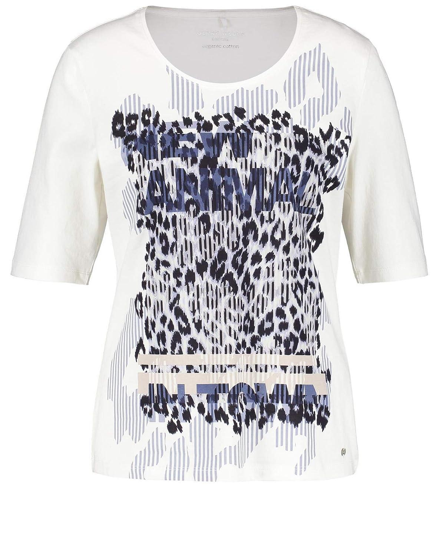 Gerry Weber - Camiseta de manga 3/4 blanco roto 50: Amazon.es: Ropa y accesorios