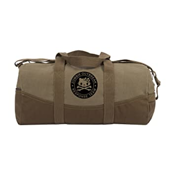 "d5672c8d14f Image Unavailable. Image not available for. Color  Zombie Outbreak Response  Team Hello Kitty Two Tone Brown 19"" Canvas Duffel Bag"