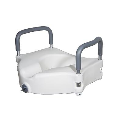 Drive Medical RTL12027RA Elevated Raised Toilet Seat