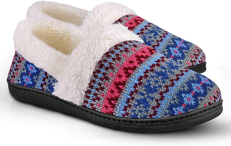 Women's Slip-On Knit Slippers Memory Foam Slippers