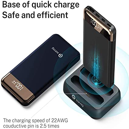 Portable Charger, SANAG 20000-mAh Power Bank (Wireless Charging Station | 2-Pack 10000 mAh Portable Charger) with Built-in Type C and Micro USB Cable ...