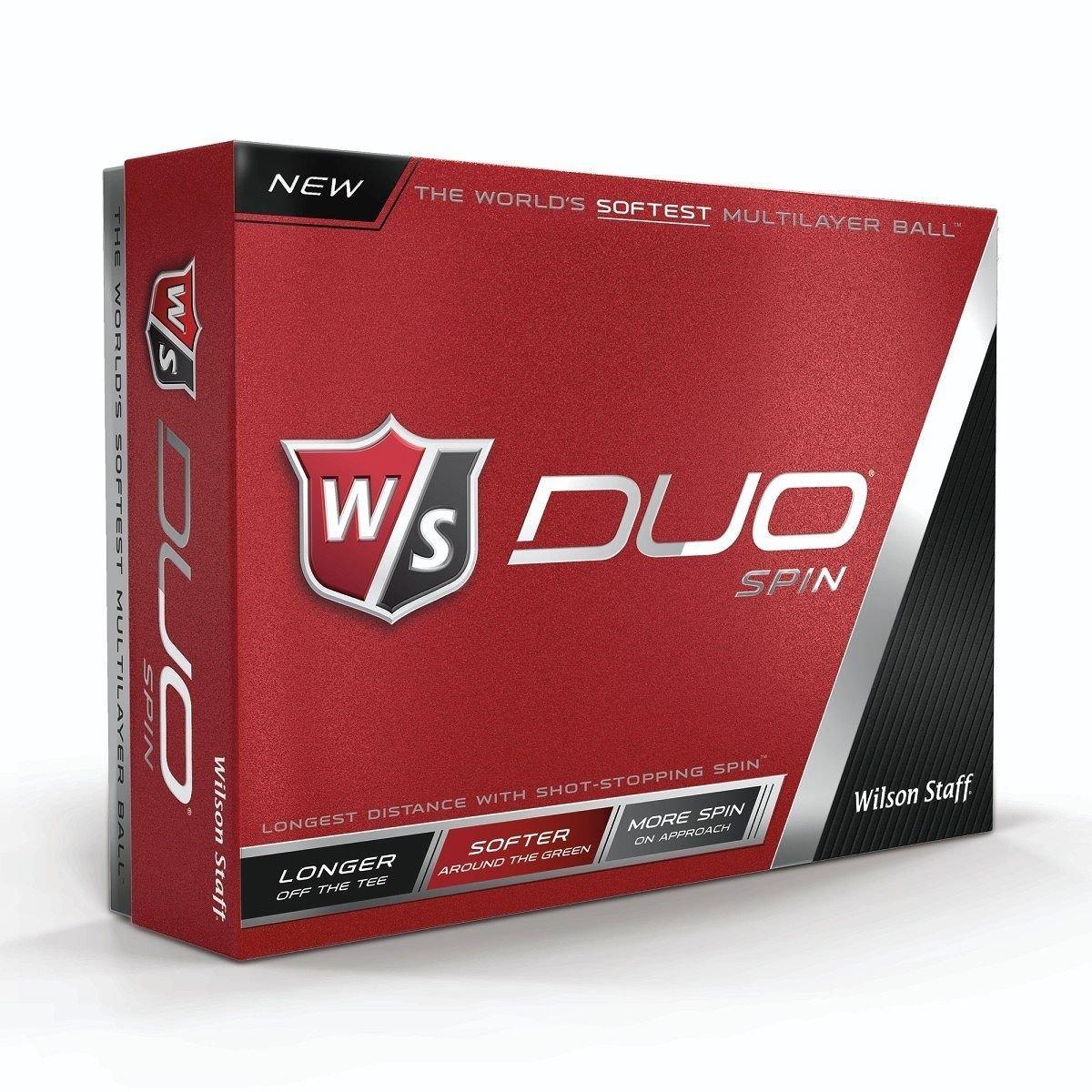 ウィルソンDuoスピンゴルフボールホワイト1ダース B01829Z2Z8