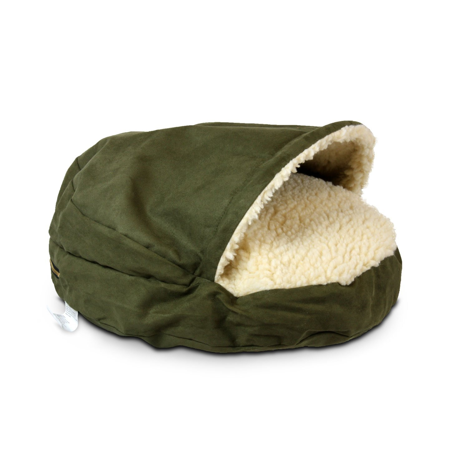 X-Large Snoozer 87481 X-Large Luxury Cozy Cave Pet Bed, Olive