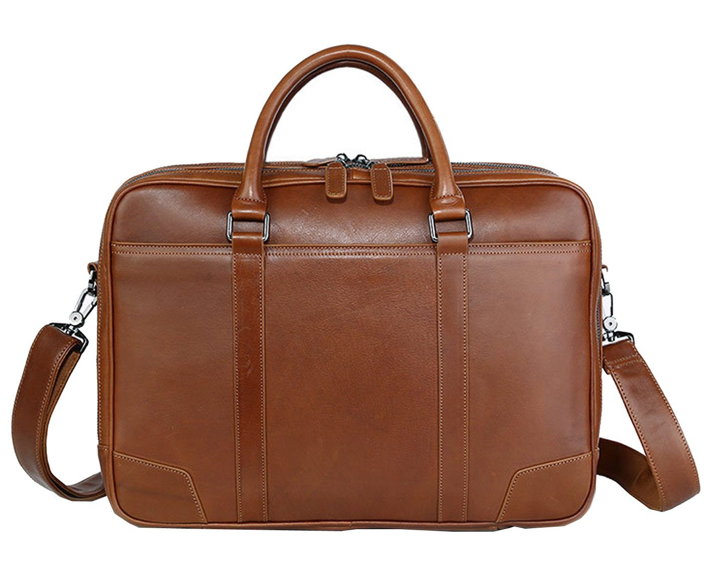 Berchirly Men's Real Leather Multifuction Professional Briefcase