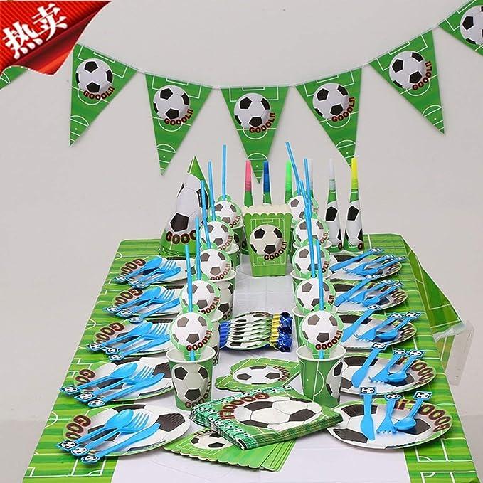 Zinniaya Patrón de fútbol Niños Cumpleaños Festival Ambiente ...